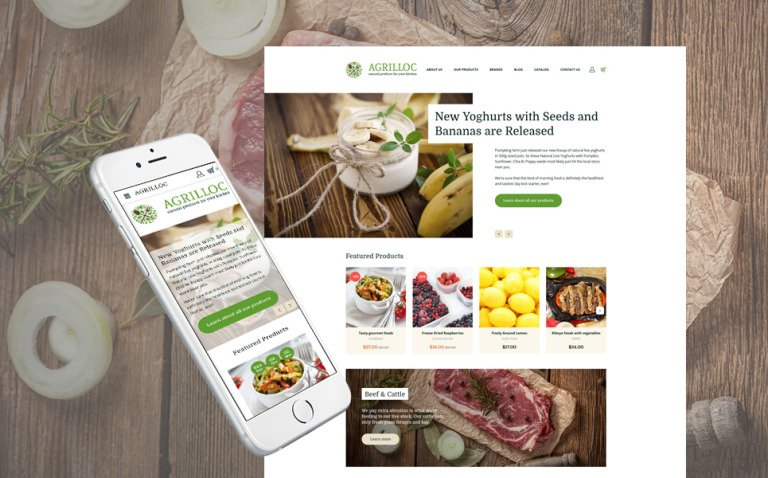 Agrilloc - Natural Products Store Responsive OpenCart Template New Screenshots BIG