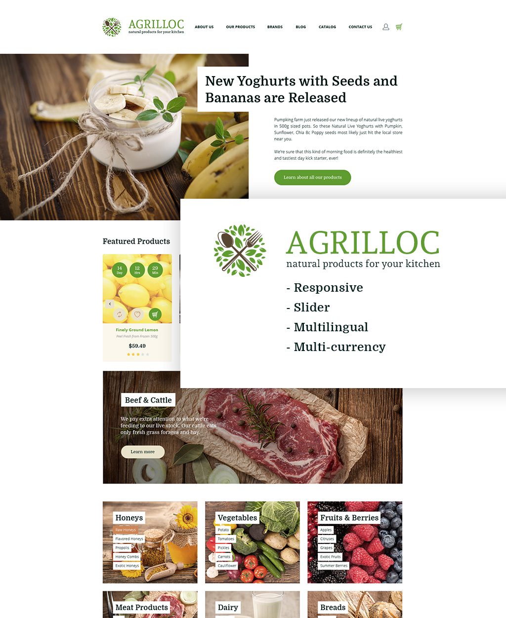 Agrilloc - Natural Products Store Responsive OpenCart Template - screenshot