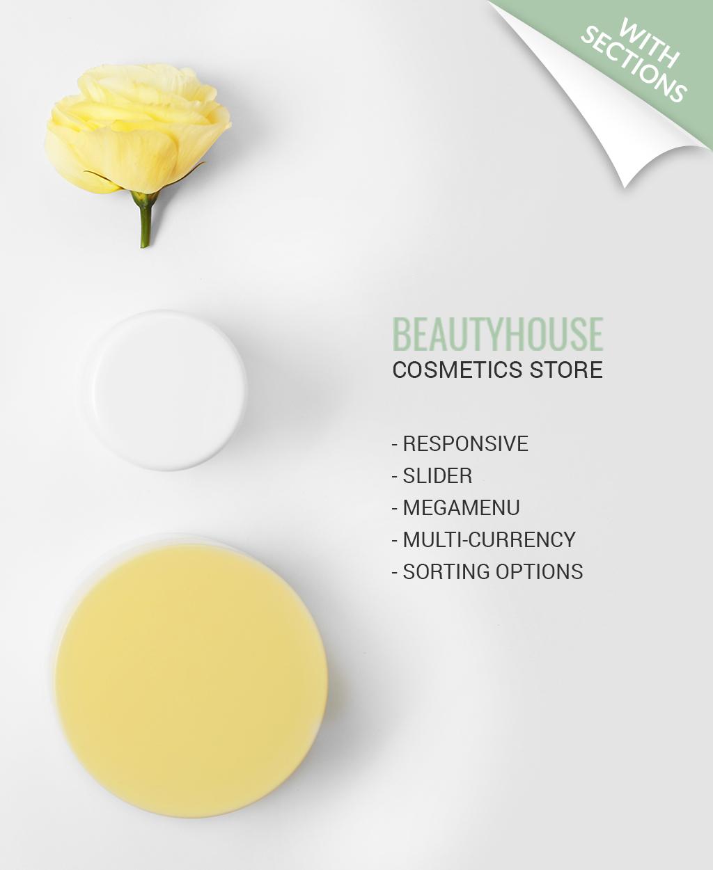 BeautyHouse - Cosmetics Store Shopify Theme - screenshot