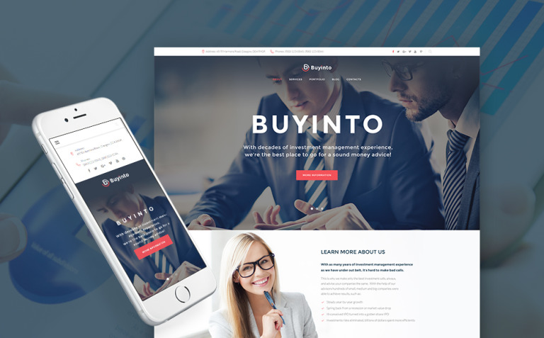Business Investment & Management WordPress Theme New Screenshots BIG