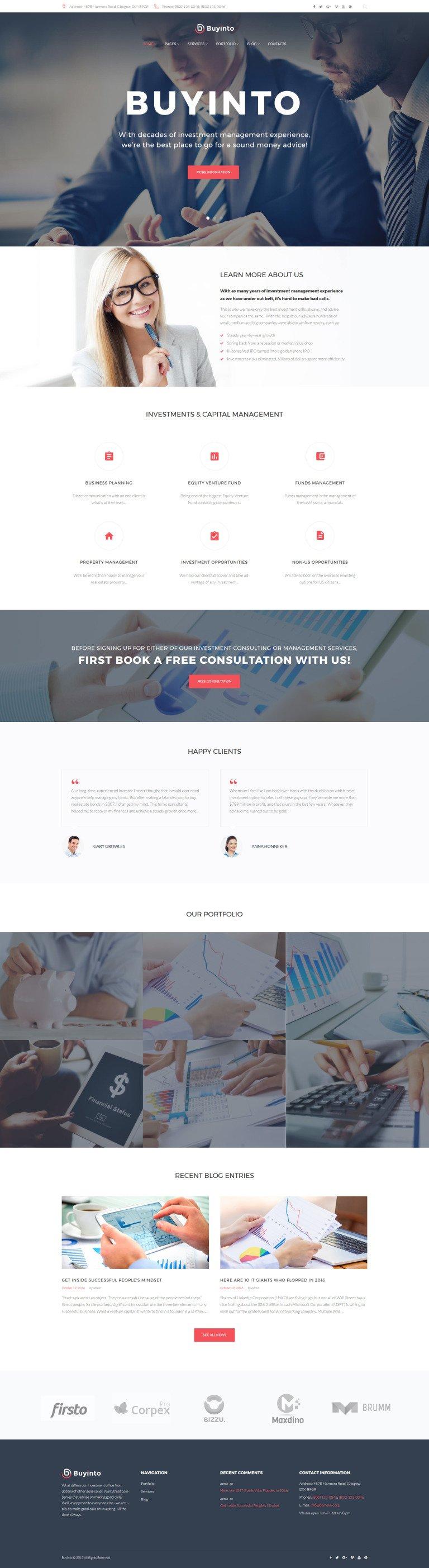 Business Investment & Management WordPress Theme New Screenshots BIG