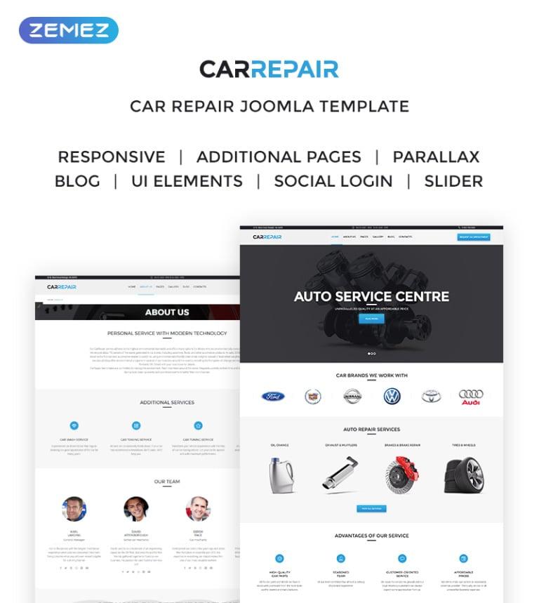 CarRepair - Auto Service Center Joomla Template