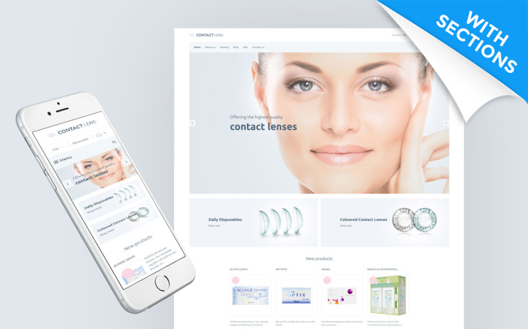 Contact Lens - Lens Store Shopify Theme New Screenshots BIG