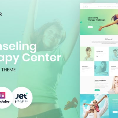 Counselor - Counseling Therapy Center Responsive WordPress Theme #63388