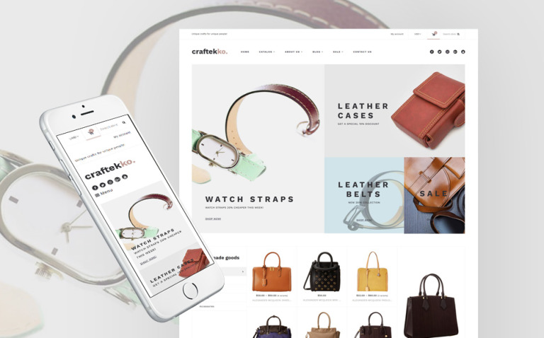 Craftekko - Handbag Responsive Shopify Theme New Screenshots BIG