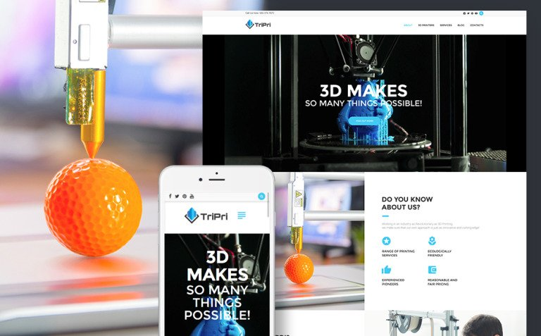 3D Printing Services WordPress Theme New Screenshots BIG