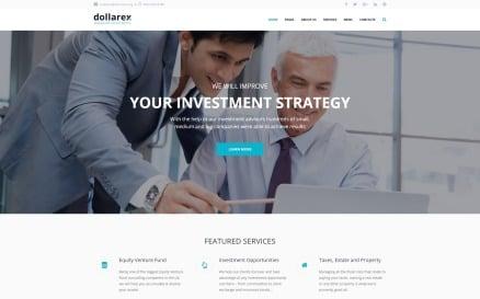Dollarex - Investment Company & Finance WordPress Theme