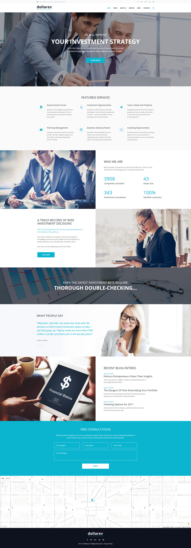 """Dollarex - Investment Company & Finance"" 响应式WordPress模板 #63348 - 截图"