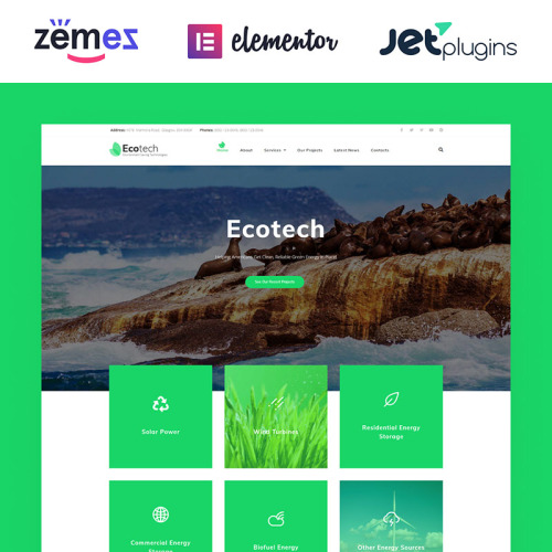 Ecotech  - HTML5 WordPress Template