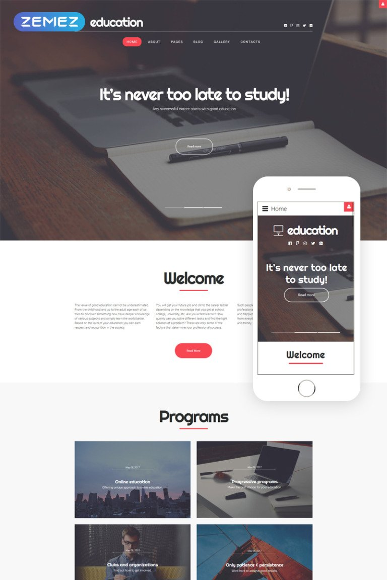 Education Responsive Joomla Template New Screenshots BIG