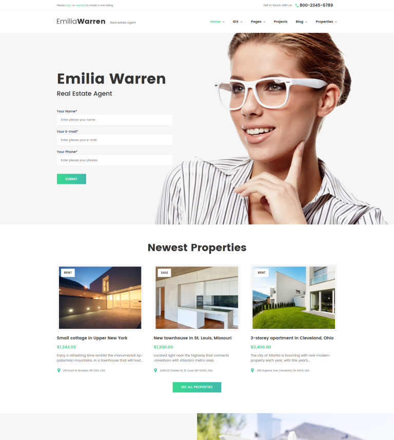 Tema de WordPress #63386 para Sitio de Agencias inmobiliarias