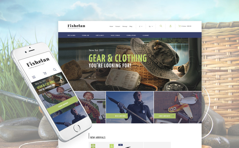 Fishelan - Fishing Equipment PrestaShop Theme New Screenshots BIG