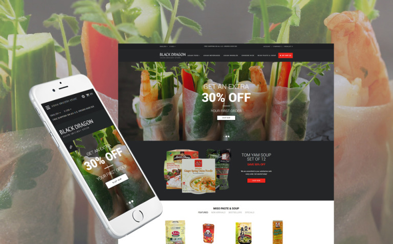 Grocery Store Responsive OpenCart Template New Screenshots BIG