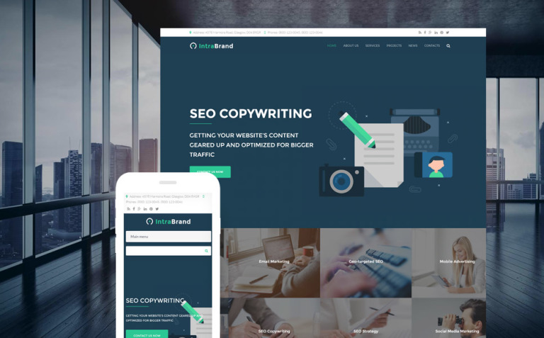 Intrabrand - SEO & Digital Marketing Agency Premium Drupal Template New Screenshots BIG