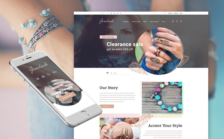 Jewelry Responsive PrestaShop Theme New Screenshots BIG