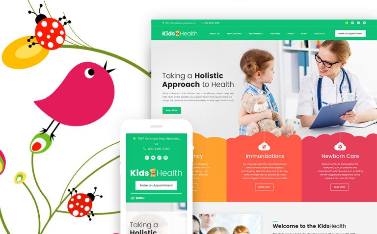 KidsHealth - Kids Clinic WordPress Theme New Screenshots BIG