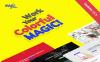 """""""Magic - Багатоцільовий та Креативний"""" - адаптивний WordPress шаблон Великий скріншот"""