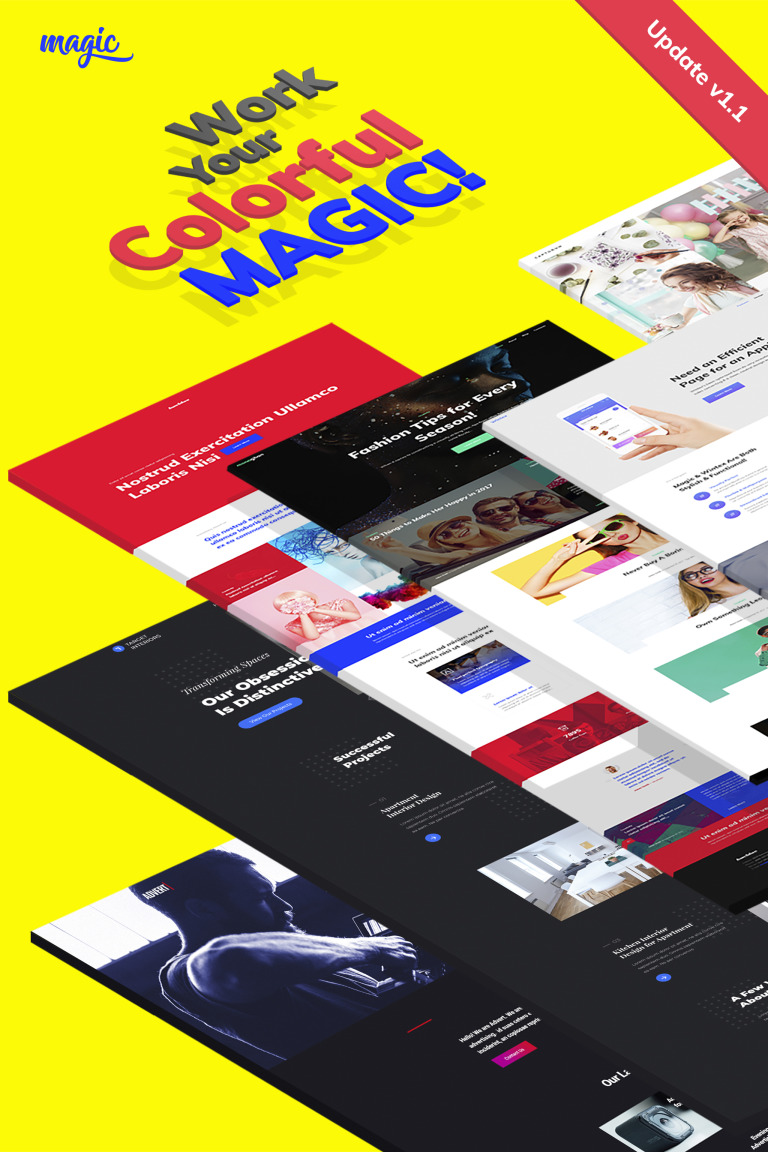 Magic - Multipurpose Creative WordPress Theme Big Screenshot