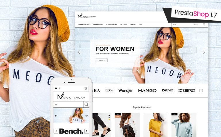 Mannerway - Clothes & Accessories PrestaShop Theme New Screenshots BIG