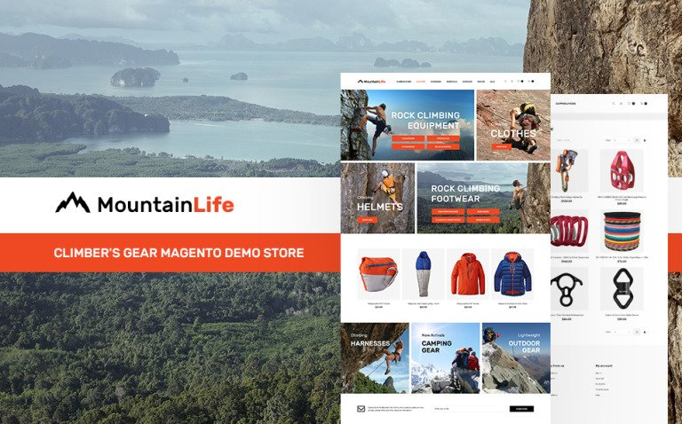 MountainLife - Climber's Gear Magento Theme New Screenshots BIG