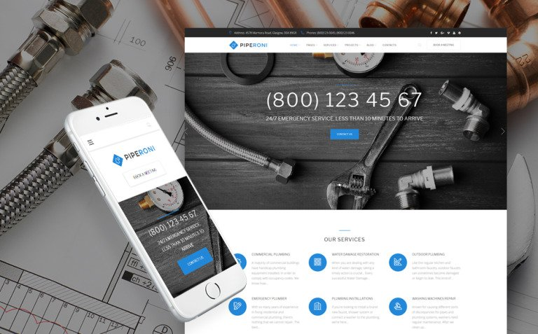 Plumber & Repair Services WordPress Theme New Screenshots BIG