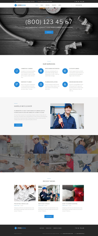 Plumber & Repair Services WordPress Theme