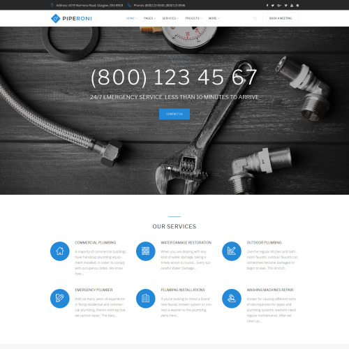 Piperoni - Responsive WordPress Template