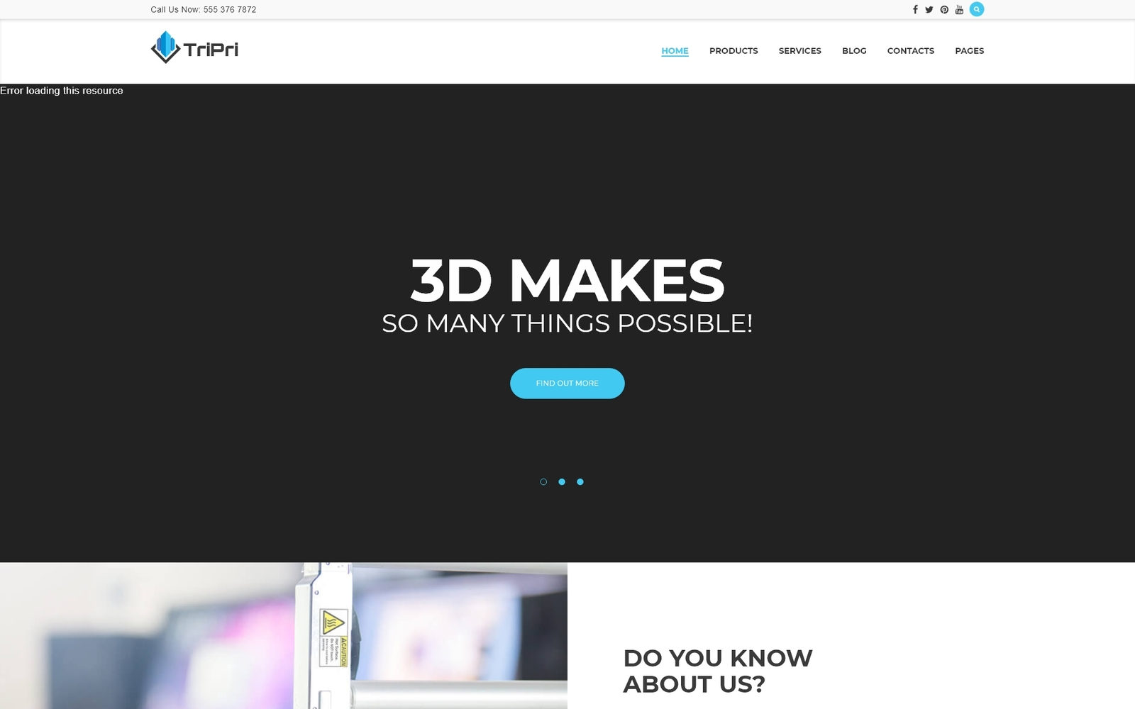 Responsive 3D Printing Services Wordpress #63387