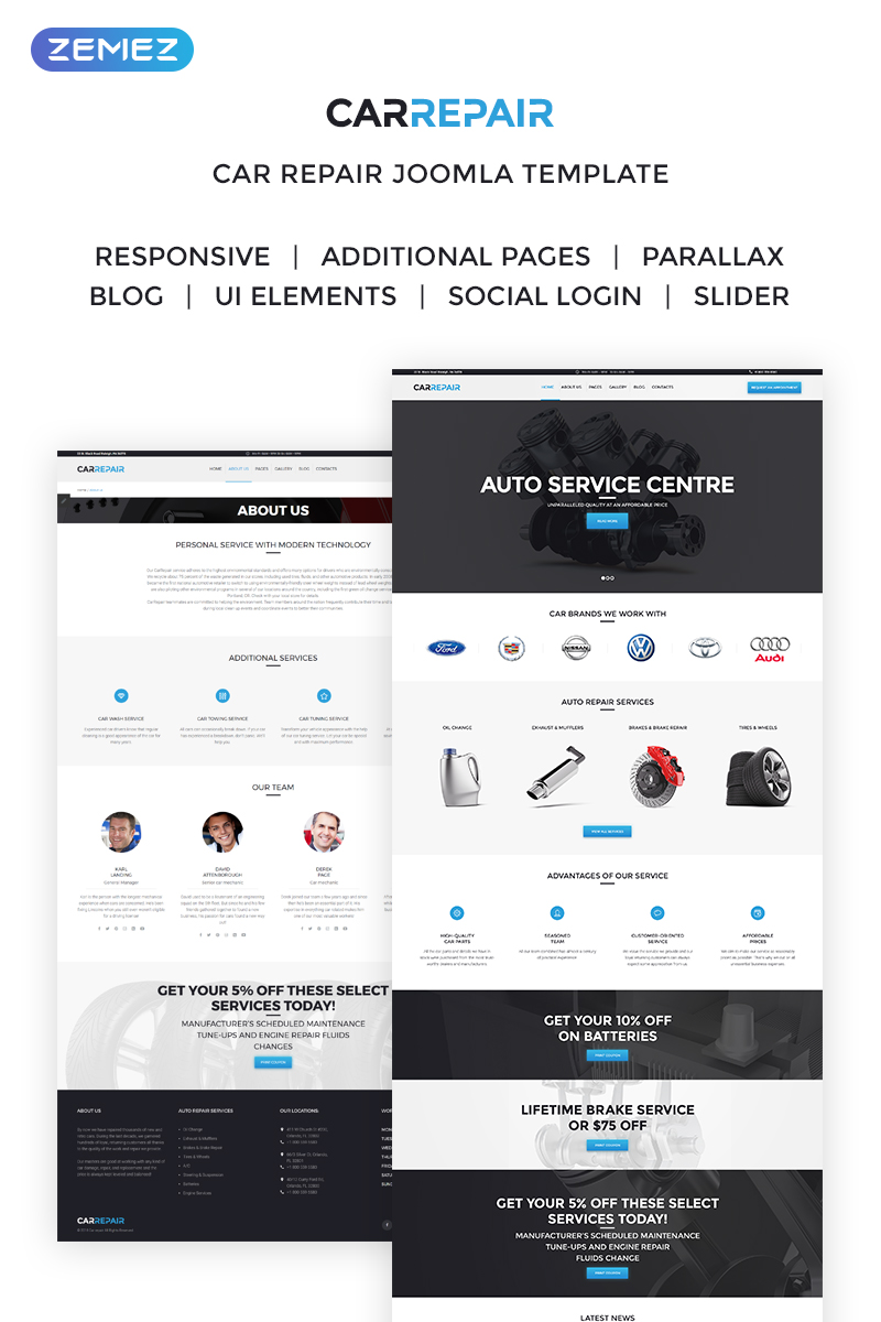 Responsive CarRepair - Auto Service Center Joomla #63391