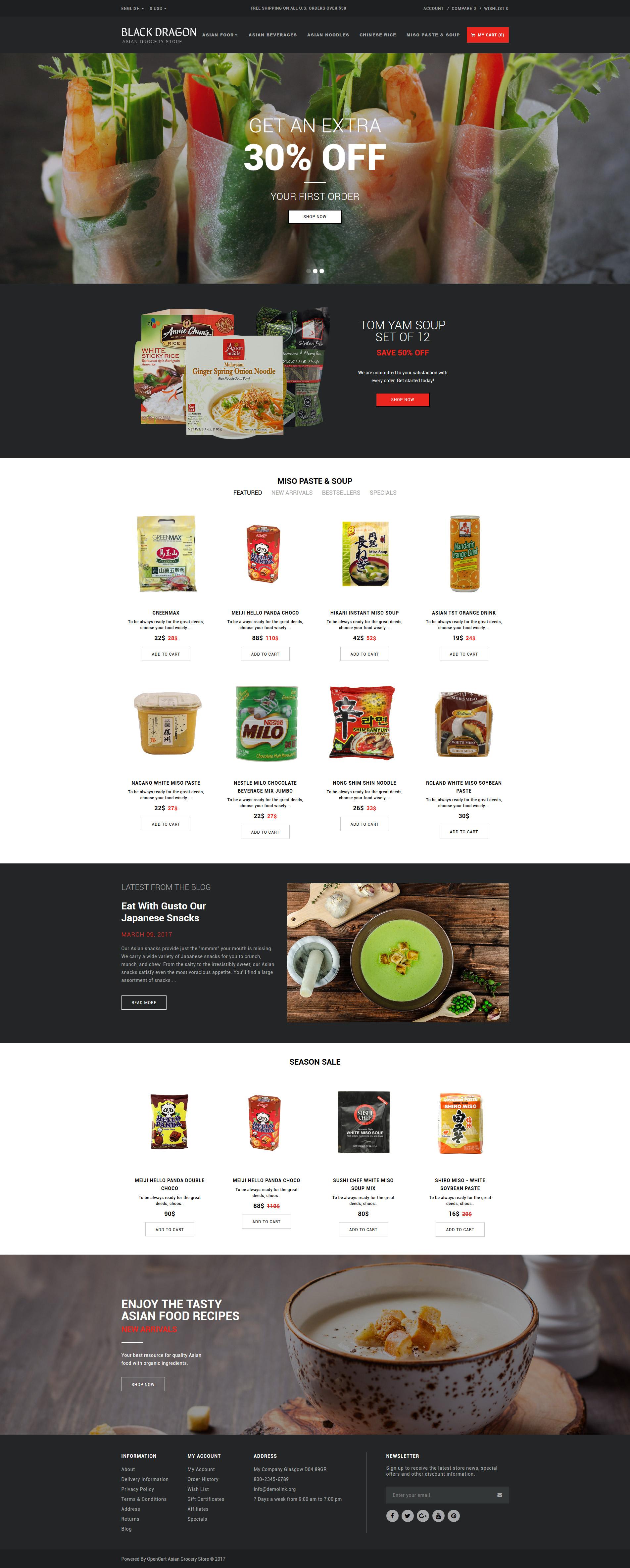 OpenCart Vorlage #63347 für Lebensmittelgeschäft