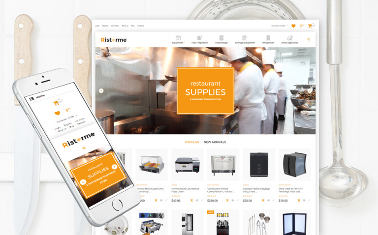 Restaurant Supplies VirtueMart Template New Screenshots BIG