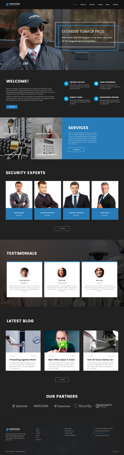 Shieldon - Security Agency Responsive