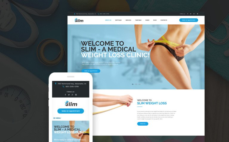 Slim - Weight Loss & Fitness WordPress Theme New Screenshots BIG