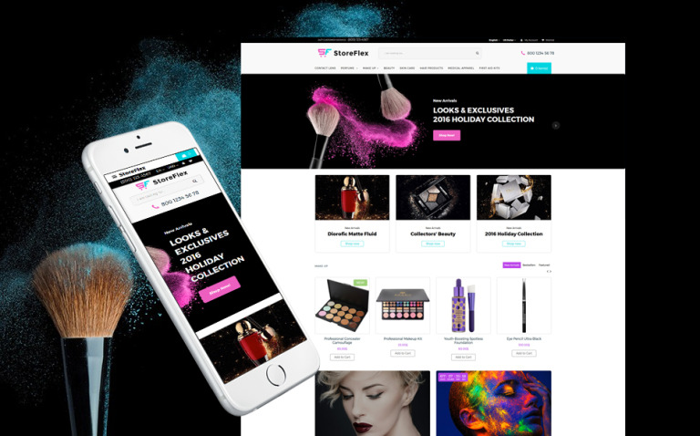 StoreFlex - Cosmetics Store Responsive OpenCart Template New Screenshots BIG