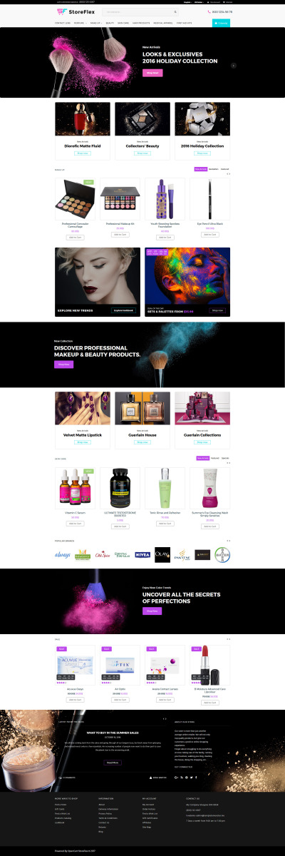 StoreFlex - Cosmetics Store Responsive OpenCart Template #63354