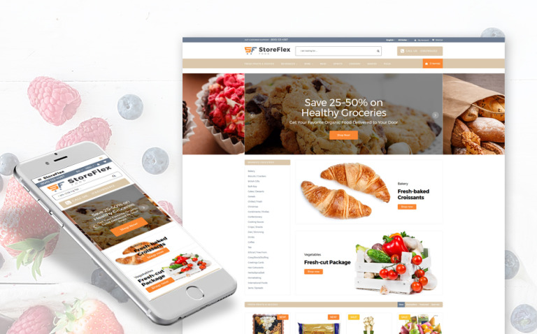 StoreFlex - Food Responsive OpenCart Template New Screenshots BIG