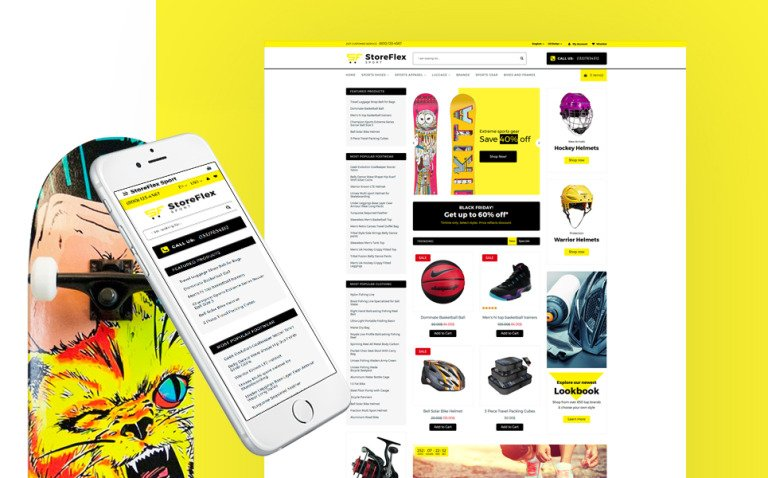 StoreFlex - Sports Store Responsive OpenCart Template New Screenshots BIG