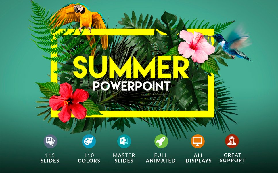 Summer | Powerpoint + Bonus Powerpoint Template #63396
