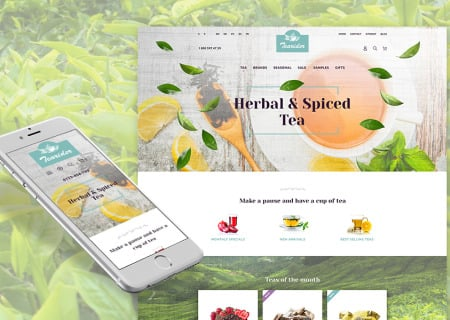 Herbal & Spiced Tea Responsive Prestashop