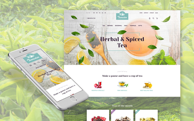 Tearider - Herbal & Spiced Tea Responsive PrestaShop Theme New Screenshots BIG