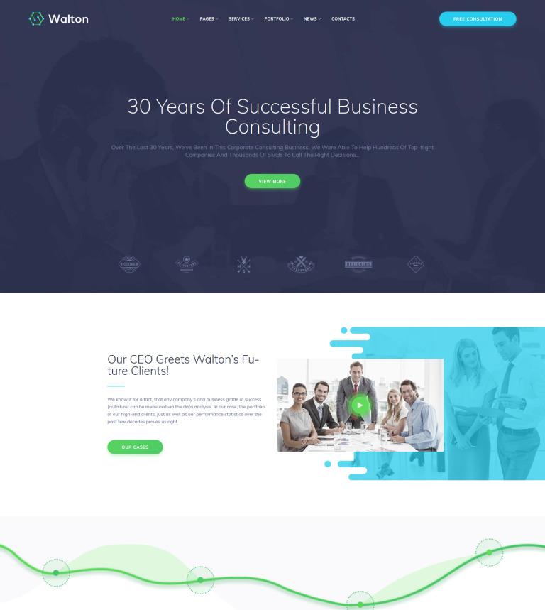 Tema de WordPress #63375 para Sitio de Consultoría