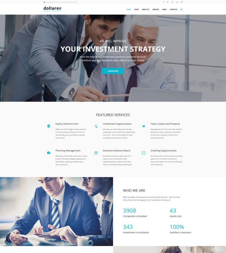 Tema de WordPress #63348 para Sitio de Sociedades de inversión