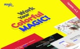 "Tema WordPress Responsive #63333 ""Magic"""