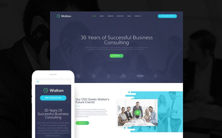 Walton - Finance & Consulting Corporate WordPress Theme New Screenshots BIG