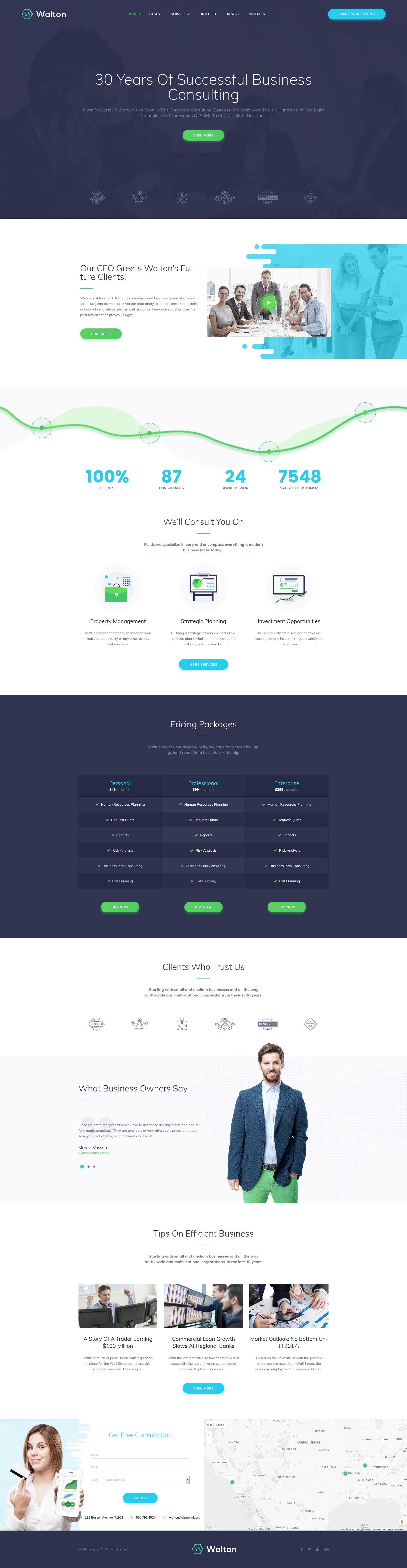 Walton - Finance & Consulting Corporate WordPress Theme - screenshot