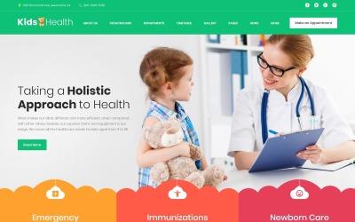 Адаптивный WordPress шаблон №63374 на тему педиатрия