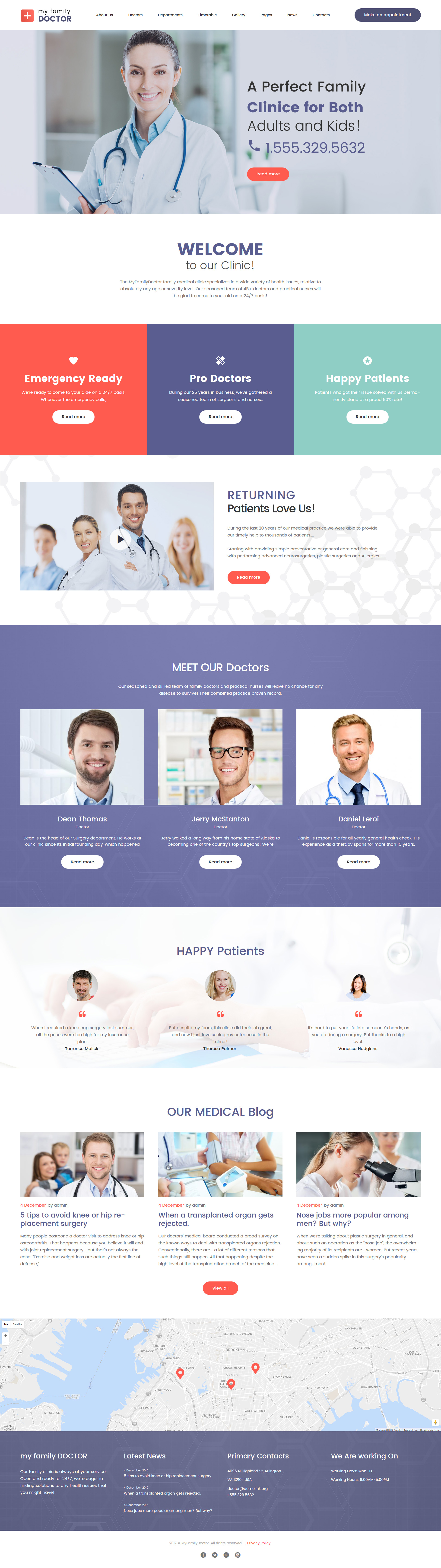 Шаблон Сайт на тему медицина #63352