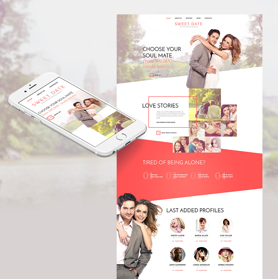 Sweeet Date HTML Website Template - image