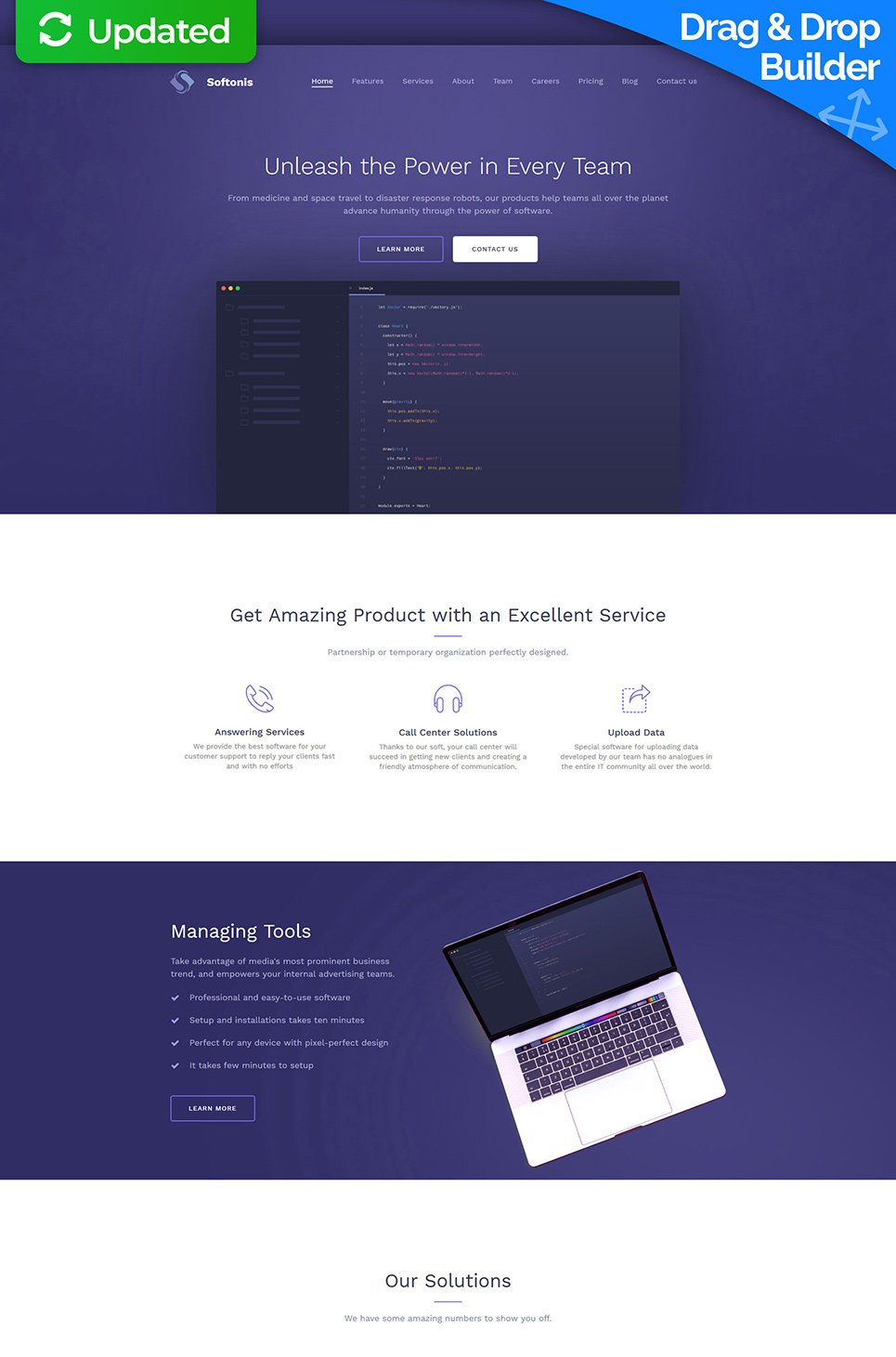Softonis Responsive Website Template - image