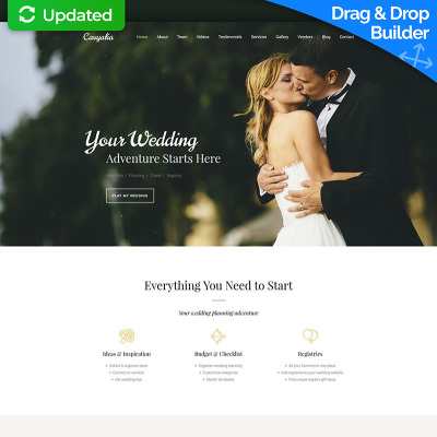 Bröllopsplanerare Responsivt Moto CMS 3-mall